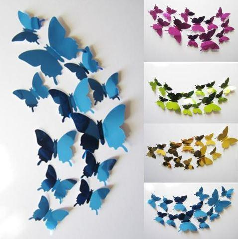 17575 Бабочки 3D Butterflies Wall Stickers, 1 пачка