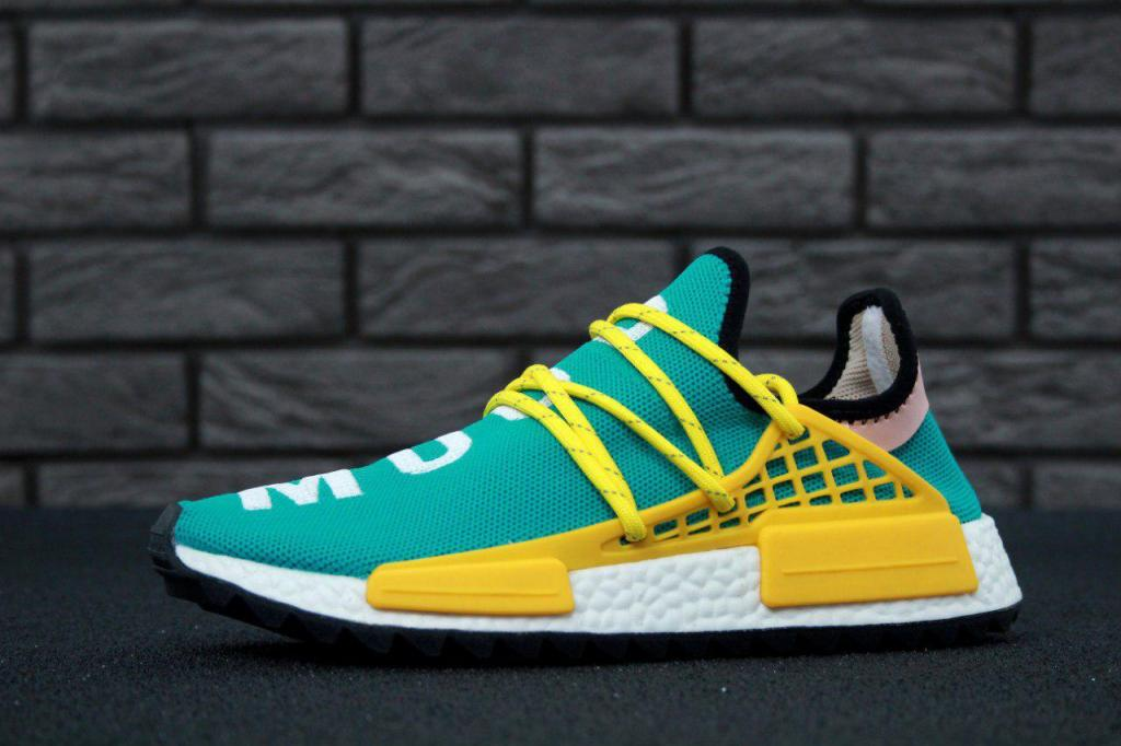 official photos 766a9 9a1b4 Чоловічі кросівки, obuwie męskie Adidas x Pharrell Williams Human Race NMD  green yellow.