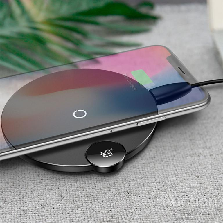 Беспроводная зарядка Baseus LCD Digital Display Wireless Charger 5W 7.5W 10W