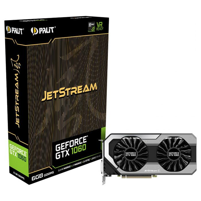 Видеокарта PALIT GeForce GTX 1060 6GB GDDR5 192-bit JetStream